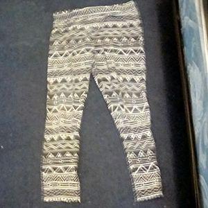 Black and white Girls leggings